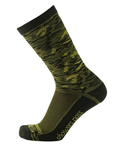- Showers Pass 100% Waterproof Breathable Lightweight Multisport Unisex Socks (Forest Camo - Large/X-Large)