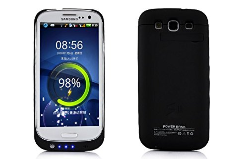 External Backup Battery Case Cover for Samsung Galaxy S3 SIII i9300 2200mAh