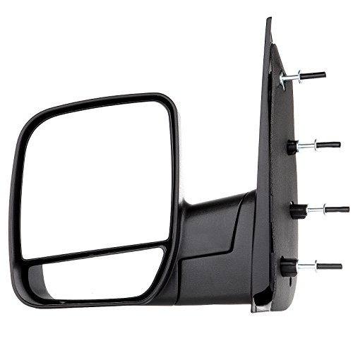 (ECCPP Towing Mirror Side Mirror Replacement for 2002-2008 Ford E150 E250 E350 E450 E550 Econoline Van with Dual Mirror Glass - Textured Black - Left)