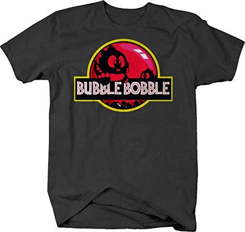 Bubble Bobble Jurassic Park Logo Mash-Up Tee for Men - 3 Colors