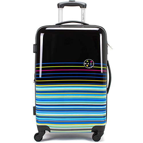 Maui and Sons Stripes Expandable Hardside Spinner Luggage with TSA Lock (24