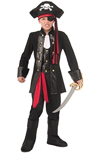 [Seven Seas Boys Pirate Costume (Medium 8-10)] (Pirates Kids Costumes)