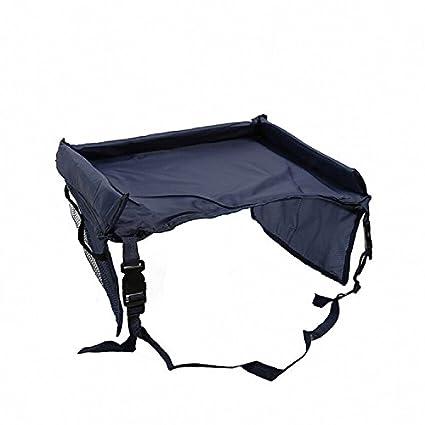 plegable e impermeable con cintur/ón de seguridad y bolsillos Azul celeste Bandeja de viaje para asiento de coche de beb/é de ZZM