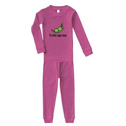 Cute Rascals My Little Sugar Bean Cotton Long Sleeve Crewneck Unisex Infant Sleepwear Pajama 2 Pcs Set Top and Pant - Hot Pink, 3T from Cute Rascals