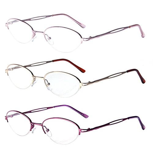 LianSan womens designer compact vintage fashion reading glasses with case prime multi pack 1.0 1.25 1 .5 1.75 2 00 2.25 2.50 2.75 3.0 3.25 3.5 4.0 L731 - Versace Buy Vintage