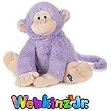 """Webkinz Jr. Purple Monkey 12"""""""