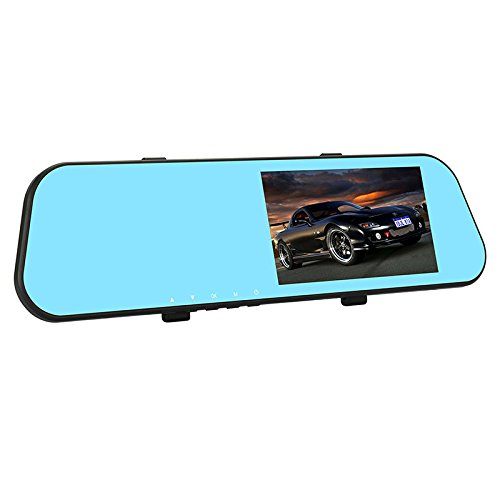 RONSHIN New Front And Rear Dual Lens Rearview Mirror HD 5 Inch Touch Screen Low Light Night Vision Driving Recorder With Rear Camera