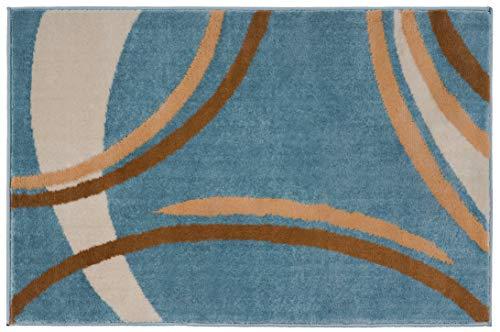 Rug Decor Contemporary Modern Wavy Circles Area
