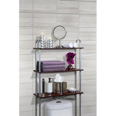 Konekte 24'' x 61'' Over-The-Toilet Bathroom Shelf with 3 Solid MDF Shelves To Organize Bathroom Needs 60%OFF