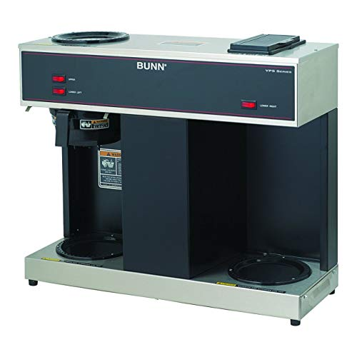 BUNN 04275.0031 VPS 12-Cup Pourover Commercial Coffee Brewer, with 3 Warmers (120V/60/1PH) (Renewed)