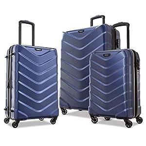 American Tourister Arrow Expandable Hardside Luggage, Navy, 3-Piece Set (21/24/28)