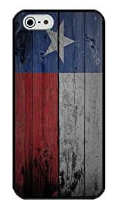 iPhone 5S Case, Texas Flag iPhone 5S Bumper Case Shock Absorption TPU Bumper with Soft PC Back