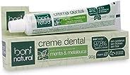 Creme Dental com óleos naturais de Menta e Melaleuca Vegano e Natural, Sem Flúor, Sem Triclosan, Boni Natural,