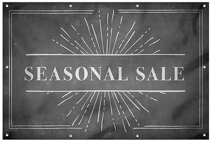 Seasonal Sale 12x8 Chalk Burst Wind-Resistant Outdoor Mesh Vinyl Banner CGSignLab