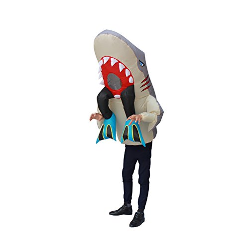 Inflatable Shark Costume Shark Eat Human Suit Halloween Costumes Party Adult Size ()