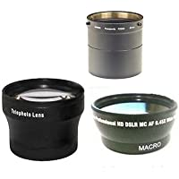 Wide + Tele Lens + Tube DMW-LA7 bundle for Panasonic DMC-FZ200, Panasonic DMC-FZ200K