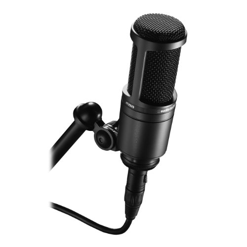 Audio-Technica AT2020 Cardioid Condenser Studio Microphone, Black - Audio Technica At2020 Studio Condenser