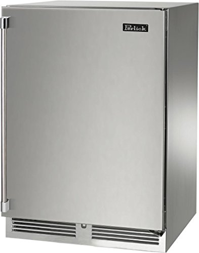 Signature Series 24 Inch Built In Counter Depth Compact Refrigerator with 5.2 cu. ft. Capacity, 2 Steel Shelves, Right Hinge, Automatic Defrost, Stainless Steel Interior, RAPIDcool System in Stainless