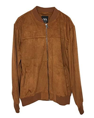 (Zara Men Suede Effect Jacket 8418/405 (Large) Brown)