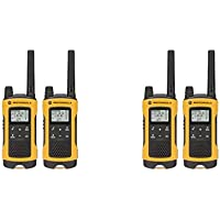 Motorola Talkabout T400 Two-Way Radios / Walkie Talkies - Weatherproof PTT IVOX Eco Smart 4-PACK