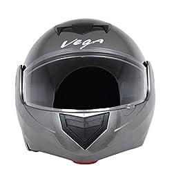 Vega Crux ABS Foam DX Flip-Up Helmet (Anthra, M)