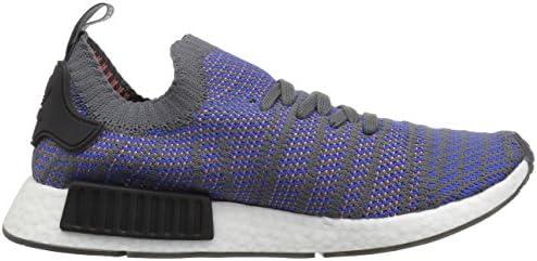 adidas Originals Men's NMD_R1 STLT PK Running Shoe, hi-res Blue/Black/Coral, 7 M US