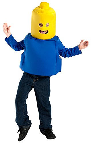 Child Blue Toy Block Man Costume with -