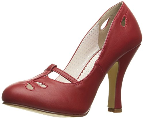 SMITTEN Up 20 Couture Red Pin Faux Leather qUOwH