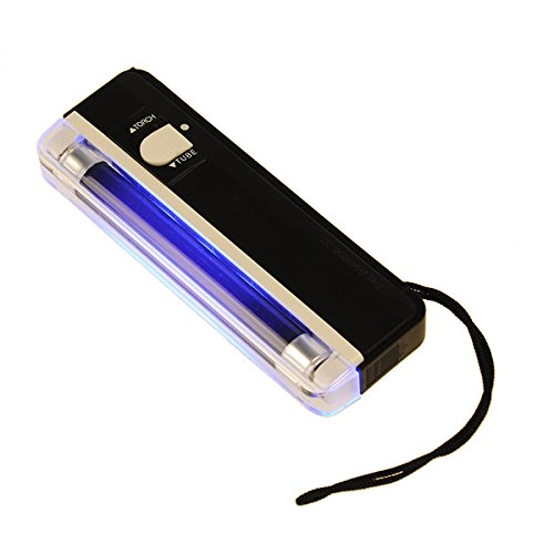 2 in 1 UV Black Light Torch Portable Fake Money Cash Detector