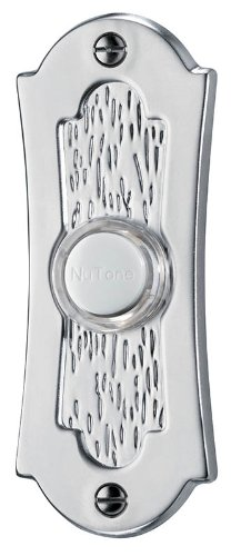 (NuTone PB27LSN Wired Lighted Door Chime Push Button, Satin Nickel)