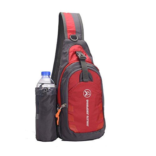 Sling Bag backpack Outdoor Shoulder Waterproof Unbalance Crossbody Bag Chest Pack Bike Red by ANANGE