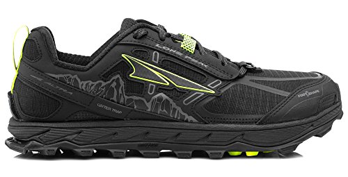 Altra AFW1855F Women's Lone Peak 4.0 Trail Running Shoe, Black - 7.5 B(M) US