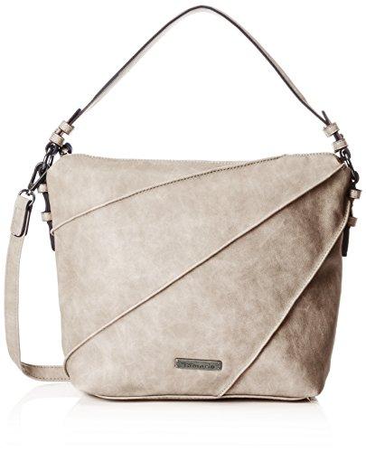 Tamaris Jutta Hobo Bag S - Bolsos bandolera Mujer Gris (Light Grey)