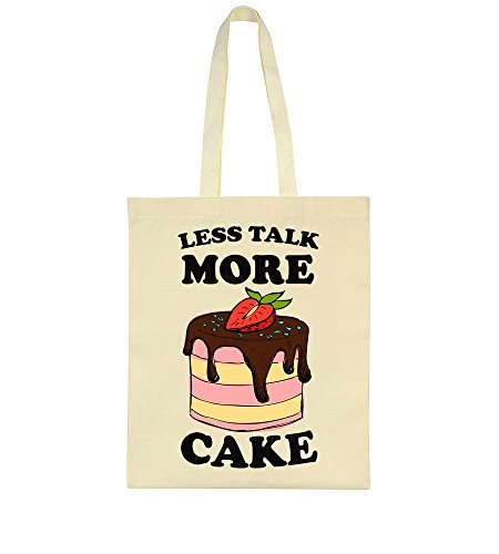 Less Talk Cake Tote More Bag wwqPvxB