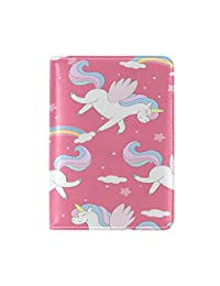 ALAZA Cute Cloud Unicorn Leather Passport Holder Cover Case Travel One Pocket