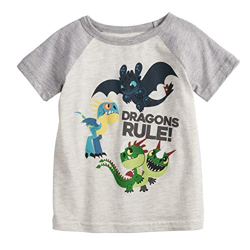 Jumping Beans Little Boys' Toddler 2T-5T Dragons Rule Tee 2T Beige from Jumping Beans