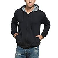 Alan Jones Clothing Men's Cotton Hooded...