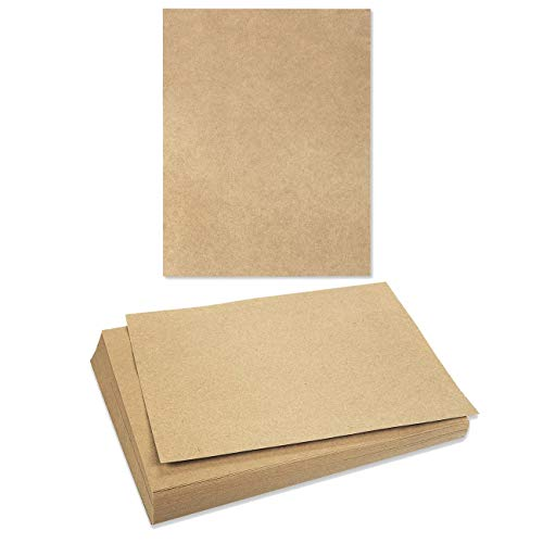 Printable Craft Templates - Brown Kraft Paper - 96-Pack Letter Sized Stationery Paper, 120GSM, Perfect for Arts, Crafts, and Office Use, 8.5 x 11 Inches