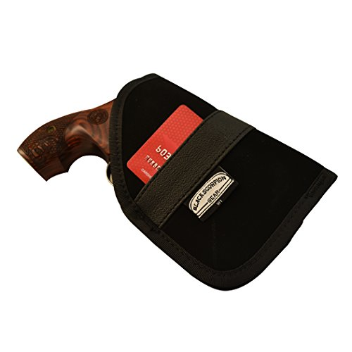 Black Scorpion BSGPNW1 Ambidextrous Neoprene IWB and Pocket Holster - Concealment - Nylon Synthetic - Fit for Small 5 Shot Double Action Revolver 2