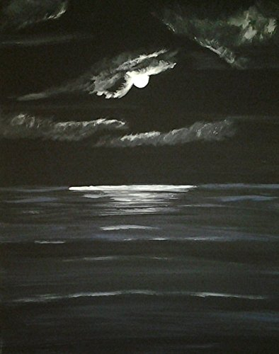 acrylic-on-canvas-ocean-moon-painting-by-christina-bell