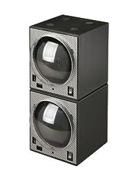 Diplomat Unisex Boxy Double Package Programmed Carbon Fiber Winder Black 31-403/2