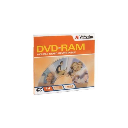 VERBATIM 95003 DVD-RAM 3X 9.4GB R/W double sided type 4 removable 1pk by Verbatim (Image #1)