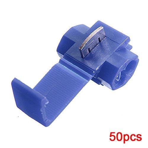 Demarkt Terminales de cables 50pcs rapida Splice Conectores Lock Crimp electrica - Azul: Amazon.es: Bricolaje y herramientas