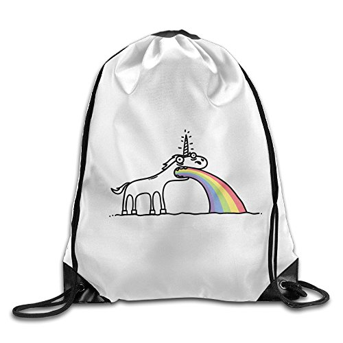 Bekey Rainbow Unicorn Gym Drawstring Backpack Bags For Men & Women For Home Travel Storage Use Gym Traveling Shopping Sport Yoga - Glasses Natalie Portman
