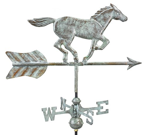 Good Directions 801V1R Horse Cottage Weathervane, Blue Verde Copper with Roof ()
