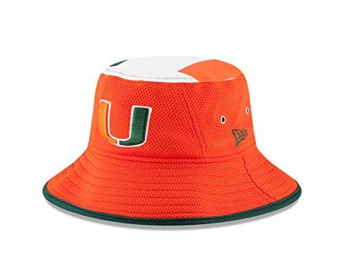 New Era NCAA Miami Hurricanes Men's Logo Topper Stretch Bucket, Orange, One Size ()