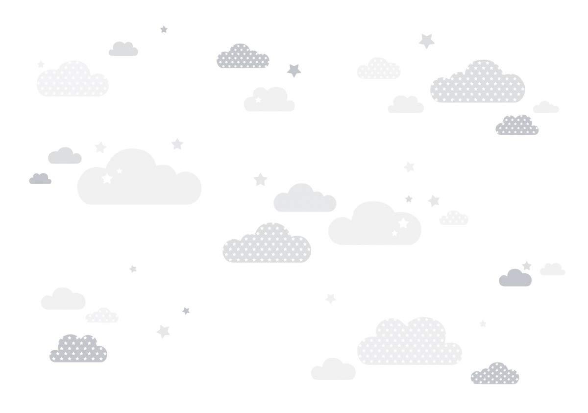 Wanddeko Baby//Kinder Farben Wandtattoo Schlafzimmer M/ädchen /& Junge lovely label Wandsticker selbstklebend WOLKEN BLAU- Wandaufkleber Kinderzimmer//Babyzimmer mit Wolken und Sternen in versch