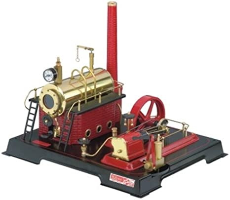 Wilesco D21 - Maqueta de máquina de Vapor (Capacidad de Caldera 500 ml, Incluye válvula de Seguridad, manómetro y Silbato)