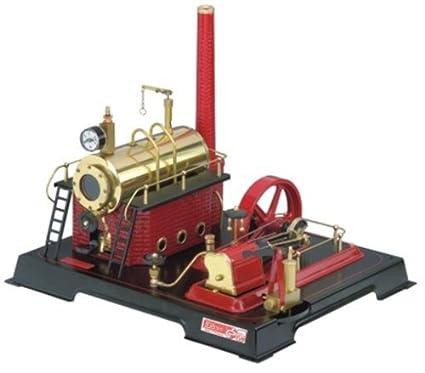 Wilesco D21 - Maqueta de máquina de vapor (capacidad de caldera 500 ml, incluye