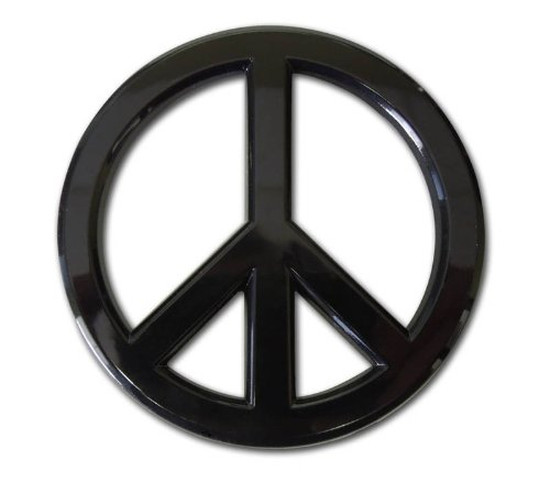 Elektroplate Peace Sign Black Acrylic Auto -